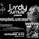 Jordy Jurrius - Translucent Waves Episode 074 (October 17 2012) on TRANCESONIC.FM