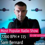 Sam Bernard 7200 BPH # 115 Radio Show on RitmoRadio