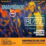 Snapback Live @ Federal Bar NOHO April 7th, 2016