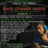 BACK CORNER RADIO: Episode #258 (Feb 16th 2017)
