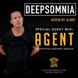 Deepsomnia with Alinep - Special Guest Mix: AGENT - JUNE 2017 - www.inprogressradio.com