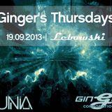 19.09.2013 Gunia - Ginger's Thursdays @ Lebowski (Live Set)