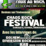 Emission du 25/11/2017 Débrief Chaos Rock et interviews Golhem, Diversion Rock et R.A.B.