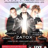 DJ GINGER _ MC  SoniC - inaugurazione 2013 Hypnosis _ Live club (MI)