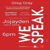Greg Gray Live at Silver Room Block Party - JoJayden in store
