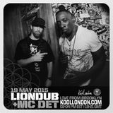 LIONDUB & MC DET LIVE FROM BROOKLYN - 05.19.15 - KOOLLONDON [JUNGLE DRUM & BASS]