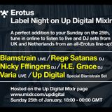 Nicky fffingers DJ @ Erotus Label Night on Up Digital Mixlr, 25/01/2015