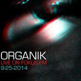 Organik Live on Fokus FM 9-25-14