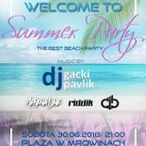 Plaża w Mrowinach (Mrowiny) - Adrena Line @ Welcome To Summer Party (30.06.2018)