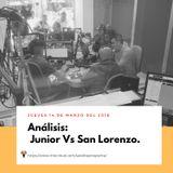 Análisis Junior Vs San Lorenzo.