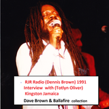 RJR  Radio Jamaica  ( Dennis Brown) interview with Totlyn Oliver 1991