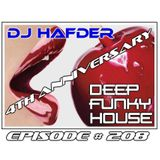 DJ HafDer - Deep Funky house # 208 - 4 years of DFH !!