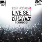 Live set: Syndicate Set x Project Bristol 14-3-15