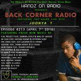 BACK CORNER RADIO: Episode #213 (April 7th 2016)
