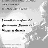 Emilio CEBRIÁN RUIZ: Una noche en Granada [arr. J. A. Hermoso] (Ensemble Saxofones CSM de Granada)