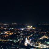 Dunkelheit fällt auf Leipzig
