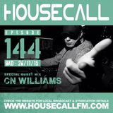 Housecall EP#144 (26/11/15) incl. a guest mix from CN Williams