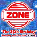 ZONE 25TH BIRTHDAY - JULY 2016 - DJ SAM WHITE *FREE DOWNLOAD*