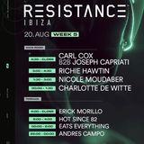 Carl Cox & Joseph Capriati @ Resistance Main Room Week 5, Privilege Ibiza, Spain 2019-08-20