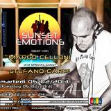 SUNSET EMOTIONS 021.4 (05/02/2013) - Special Guest STEFANO CARPI