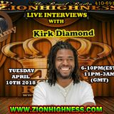 KIRK DIAMOND LIVE INTERVIEW WITH DJ JAMMY ON ZIONHIGHNESS RADIO 041018