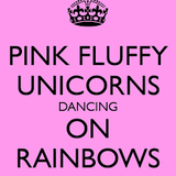 Pink Fluffy Unicorns dancing on rainbows #2