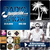 DEEPINSIDE RADIO SHOW 139 (DJ Mark Brickman Artist of the week)