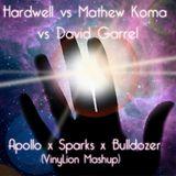 Hardwell vs Mathew Koma vs David Gravell - Apollo x Bulldozer x Sparks (VinyLion Mashup)