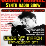 "RW084 - THE JOHNNY NORMAL ""GARY NUMAN SPECIAL"" SYNTH RADIO SHOW - RADIO WARWICKSHIRE - 8 MARCH  2017"