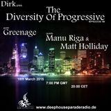 Greenage - Guest Mix - The Diversity Of Progressive 19 (18th March 2015) on Deep House Parade