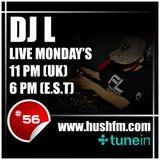 DJ L - HushFM - Episode #56 with Elle Nocturnal - Liquid & Rolling DNB
