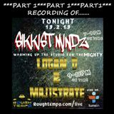 ***PART 1*** SIKKIST MINDZ warm up show for LOGAN D B2B MAJISTRATE on roughtempo.com 13.2.13