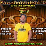 NKOSI LIVE INTERVIEW WITH DJ JAMMY ON ZIONHIGHNESS RADIO 040318