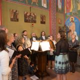 Liturgy in the orthodox church in Ghent. Choir of the Helsinki orthodox parish of the Holy Trinity