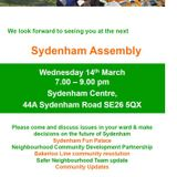 Sydenham Assembly Meeting at the Sydenham Centre - 14th March 2018 Part 1