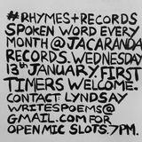 Rhymes & Records #1 at Jacaranda Records 13.1.16