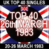 UK TOP 40: 20-26 MARCH 1983