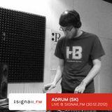 Adrum - Live @ SIGNAll_FM (30.12.2012)