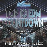 Top 10 EDM Countdown with Freestyle Chulo and DJ Lexx  3-1-16