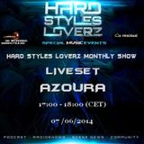 AZOURA - Hard Styles Loverz Monthly Show - Hardstyle.nu - Saturday 07 June 2014