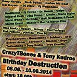 Odious @ CrazyTBone & Tony Kudro's Birthday Destruction, Electrocution Radio (09/06/14)