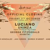 Luciano @ Destino, Ibiza Official Closing - 07 October 2016