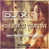 DJ X - How Deep Is Your Love (September Deep Mix 2015)