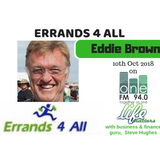 Errands4All - Eddie Brown - 10 Oct 2018 - OneFM - Life Matters - Steve Hughes