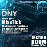 LIVE TECHNO ROOM 26/11 DJ MISS TICK - Over My Shoulder - The Kundalini Experience - WARPStage Radio
