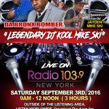 DA BRONX BOMBER ' LEGENDARY DJ KOOL MIKE SKI f / JAYDEN MIKE SKI ' LIVE ' on RADIO 103.9FM NYC...