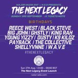 The Next Legacy Launch Event w/ DJ Selecta Impact & Guest MCs - 27th August 2017