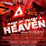 Sesion en directo Discoteca HEAVEN, en cabina Manel Ruiz 10.03.12 de 22:30 a 00:00