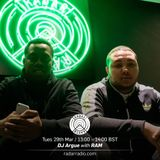DJ Argue & Special Guest: RAM - 29th March 2017