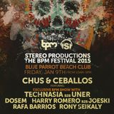 Rafa Barrios - Live @ Stereo Productions Showcase, The BPM Festival, Blue Parrot, México(09.01.2015)